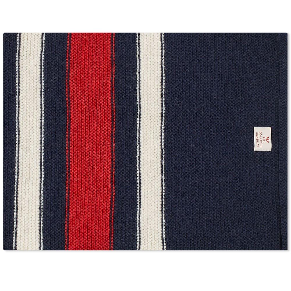 Nigel Cabourn Striped Scarf - Black Navy