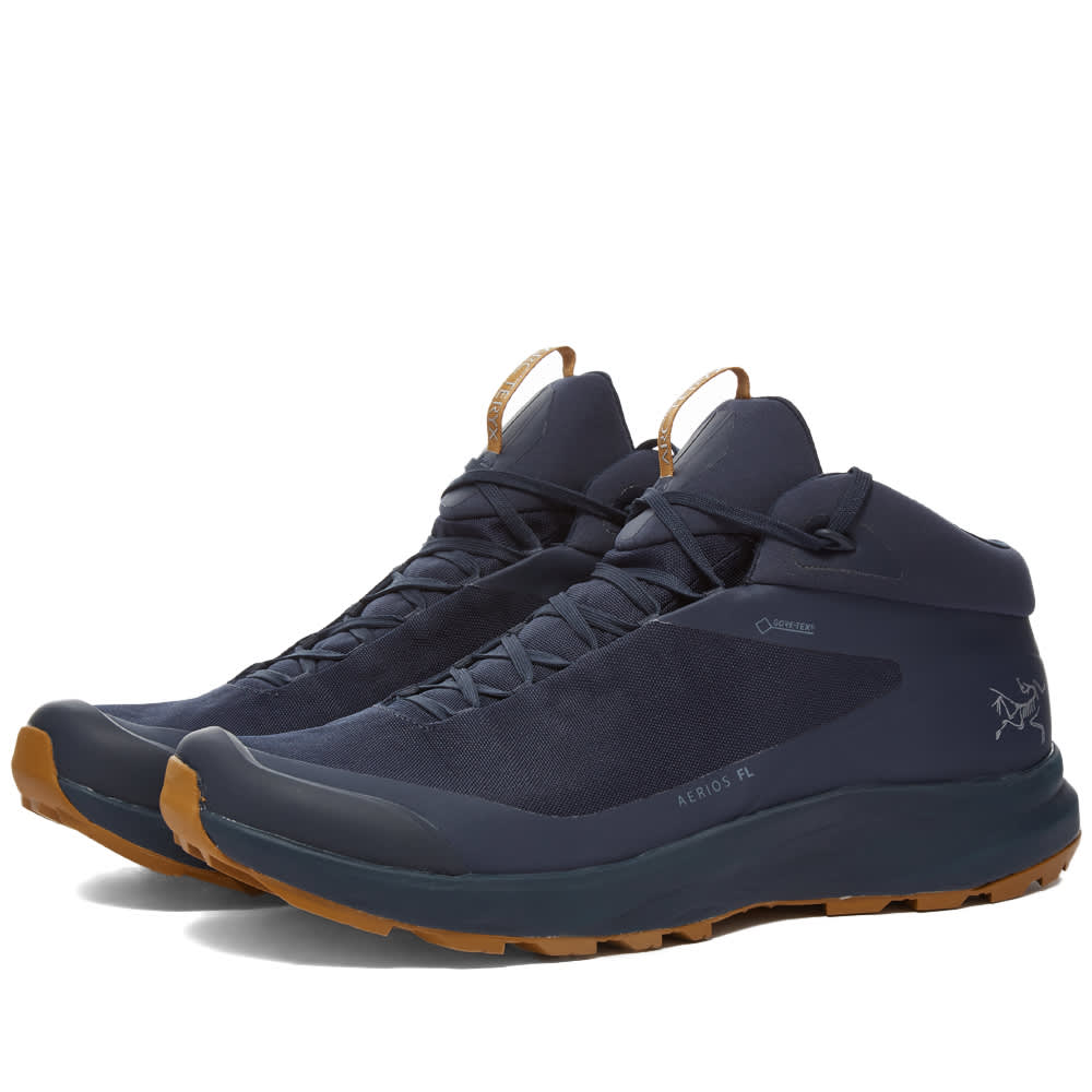 Arc'teryx Aerios Mid GTX Hiking Boot - Cobalt Moon & Yukon