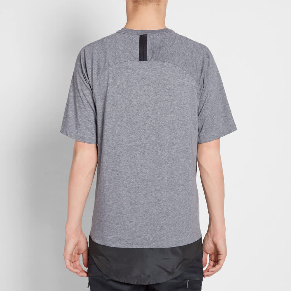 Nike Bonded Knit Tee - Carbon Heather & Black