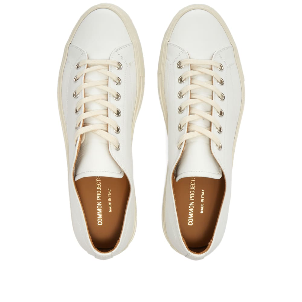 Common Projects Tournament Low Leather Shiny - White