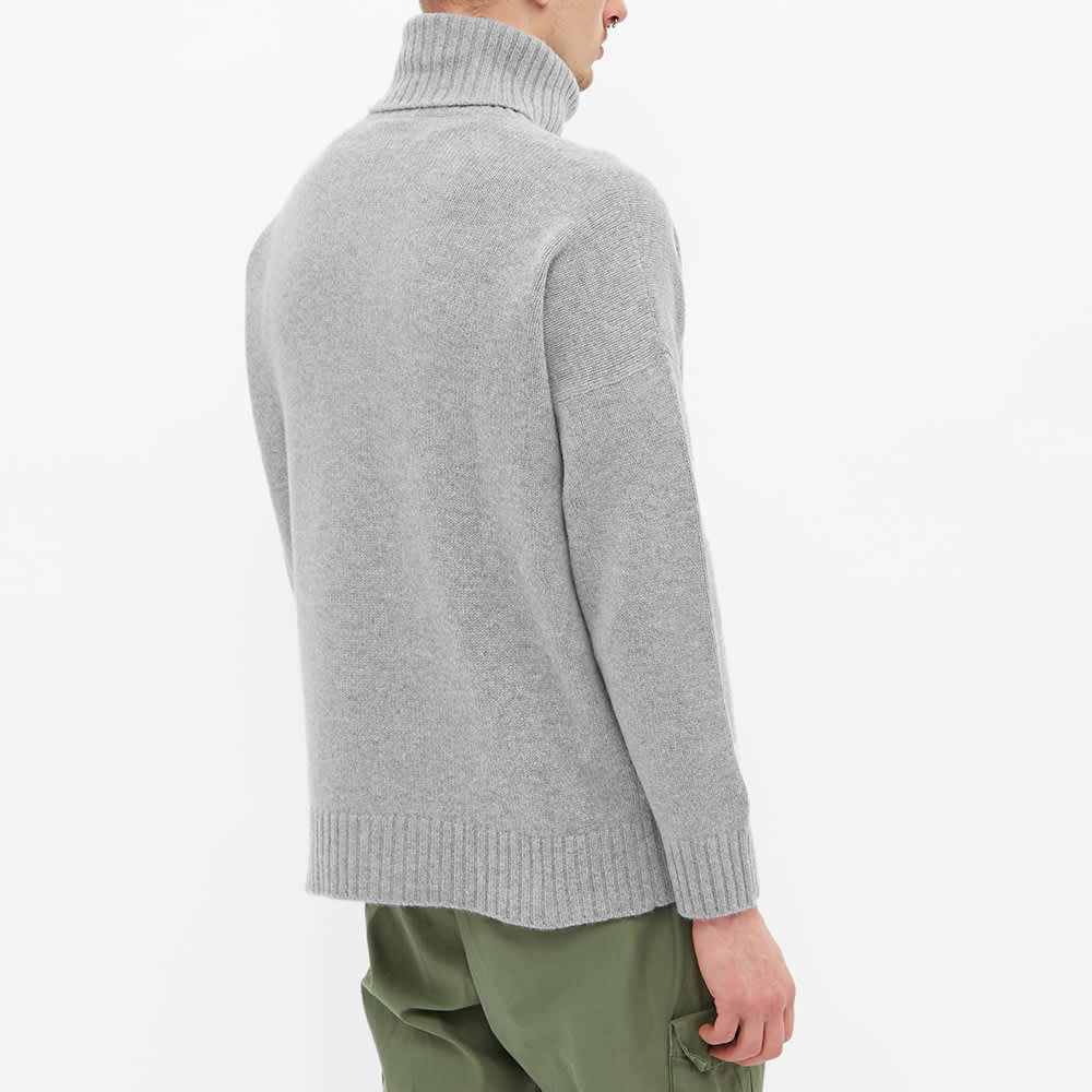 Harmony Windy Roll Neck Knit - Light Grey