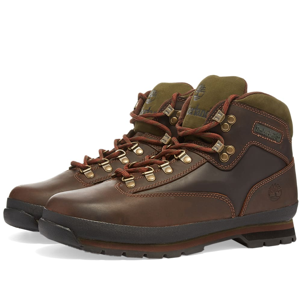 Timberland Euro Hiker Leather Boot - Medium Brown Full Grain