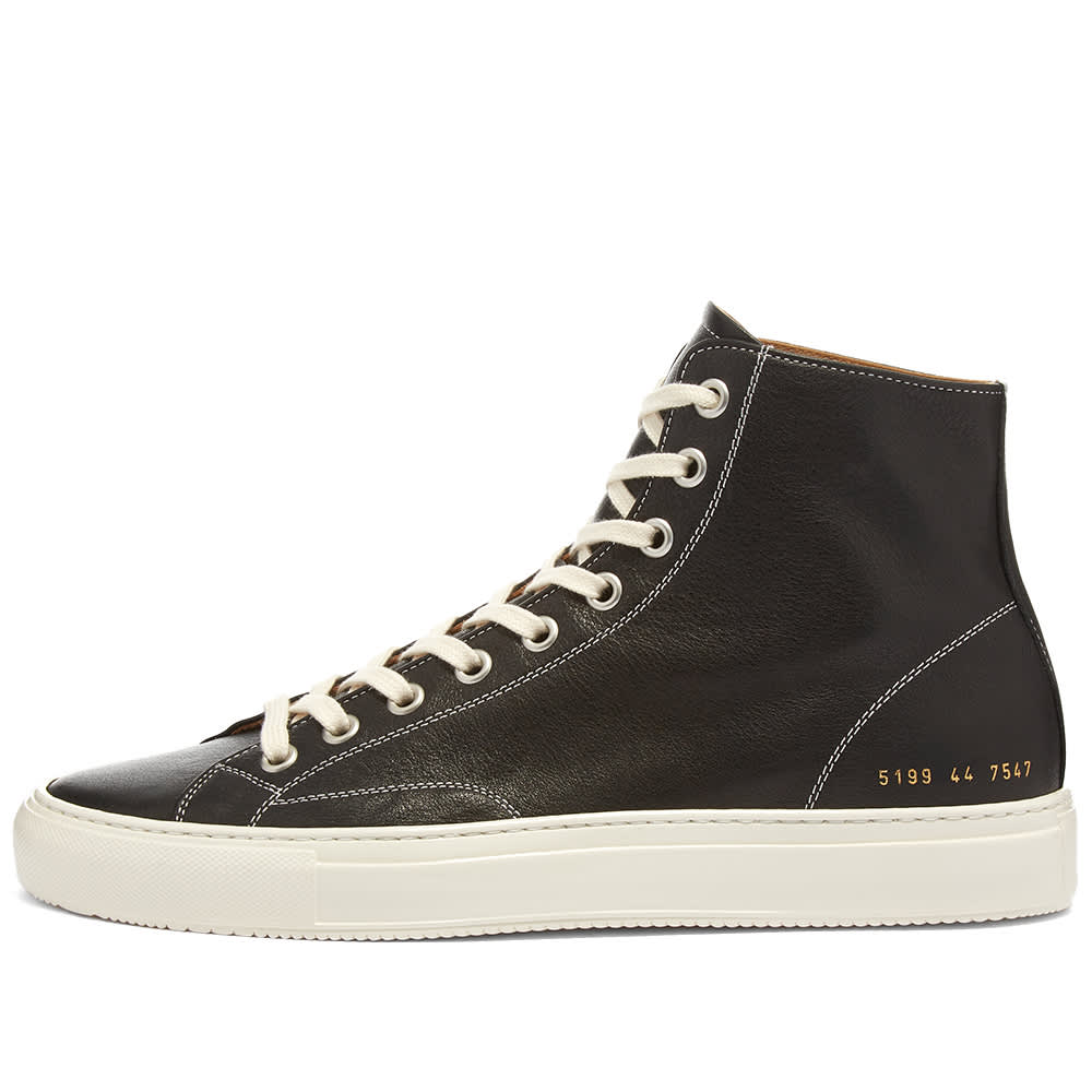 Common Projects Tournament High Leather Shiny - Black