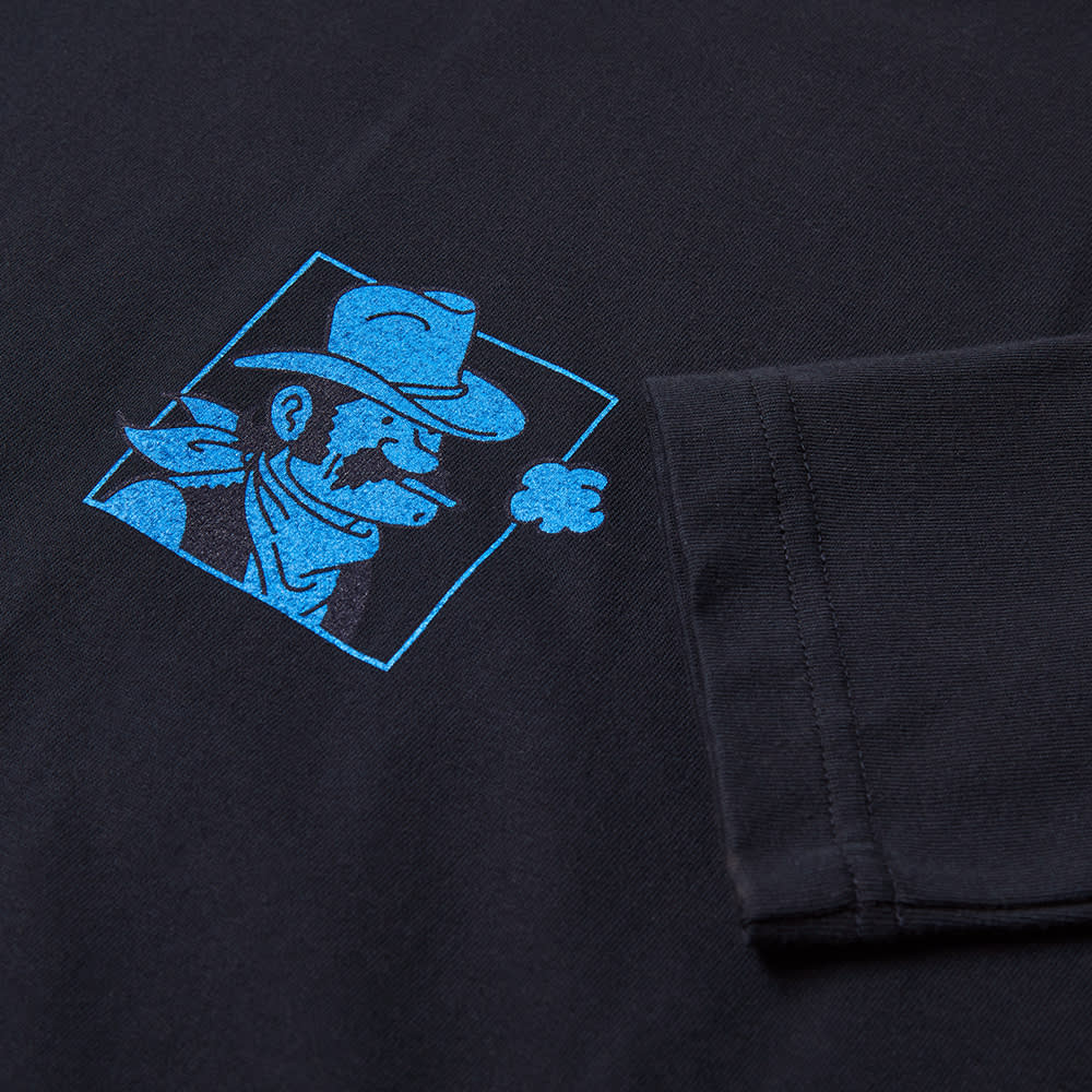 Arpenteur Long Sleeve Cowboy Mini Box Tee - Navy