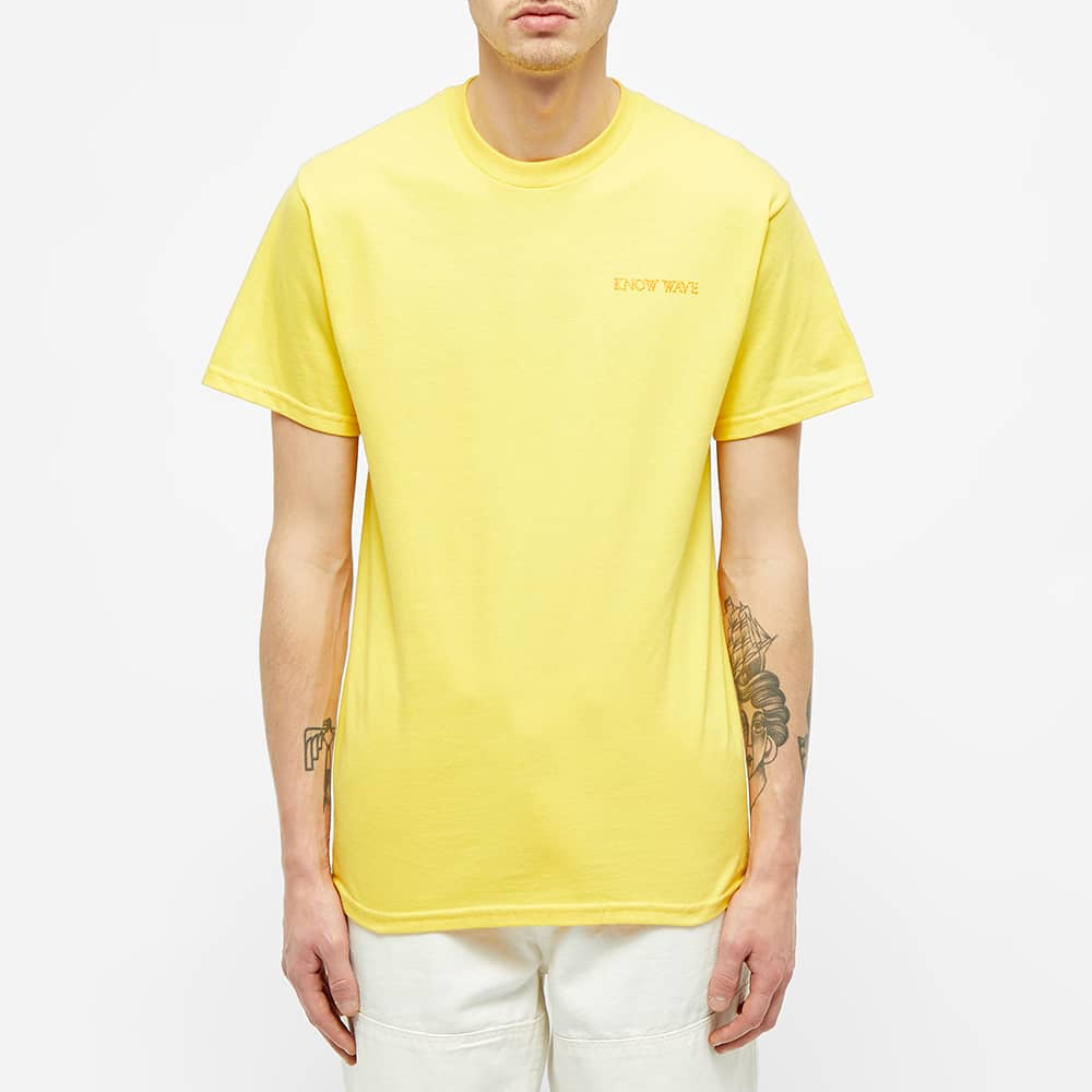 Know Wave Anxiety Logo Tee - Yellow
