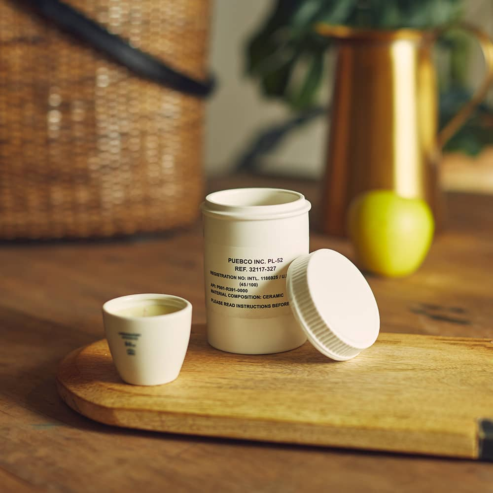 Puebco Ceramic Canister - White