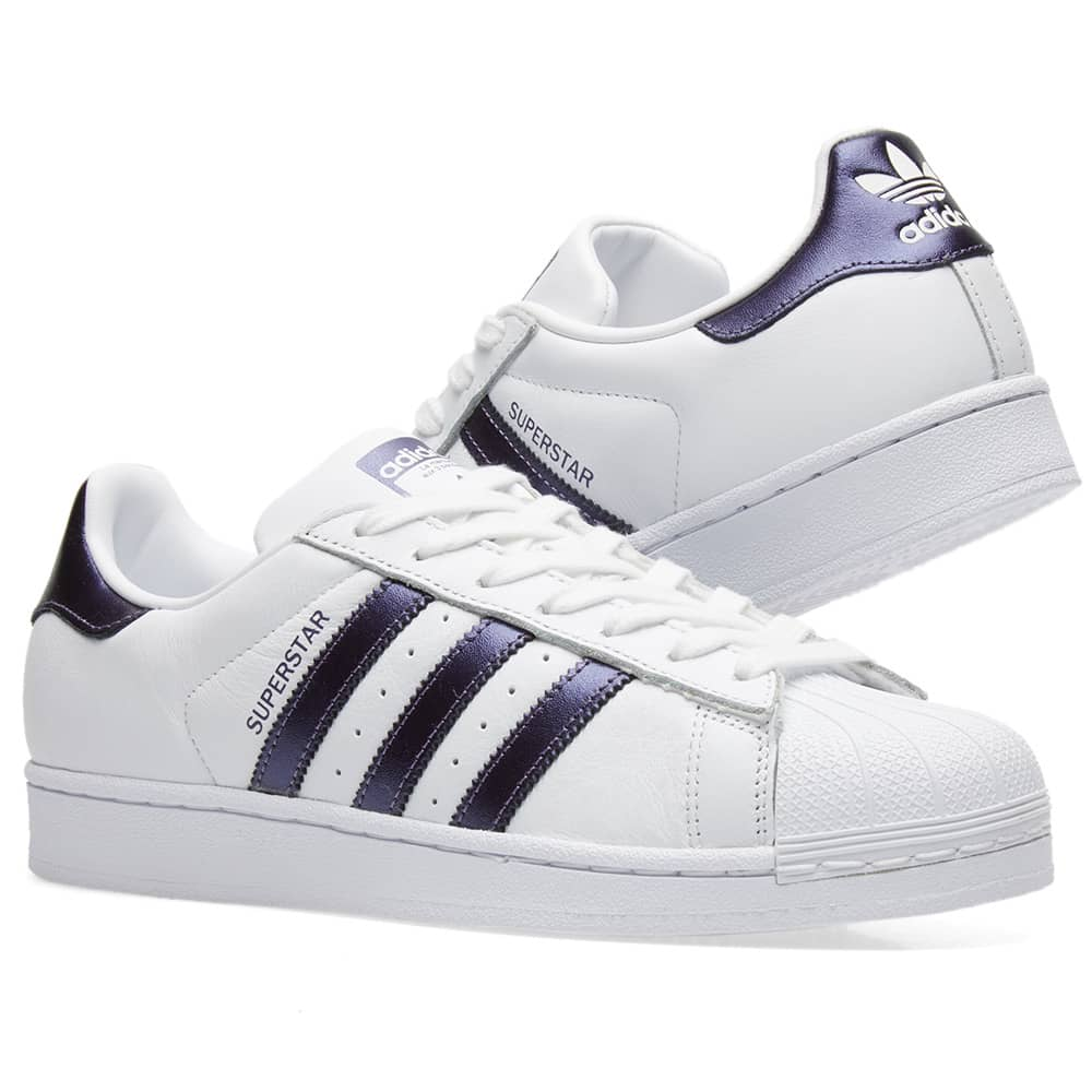 Adidas Superstar W White \u0026 Purple Night