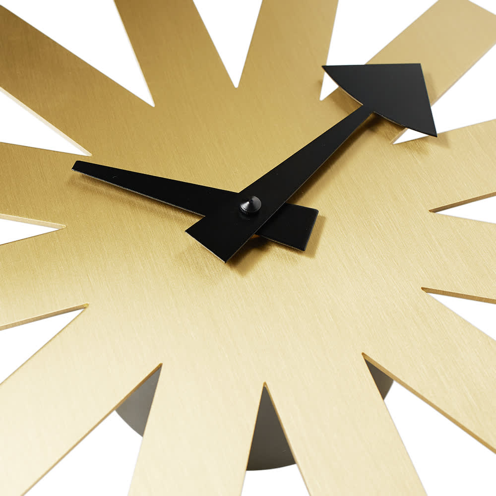 Vitra Asterisk Wall Clock - George Nelson - Brass