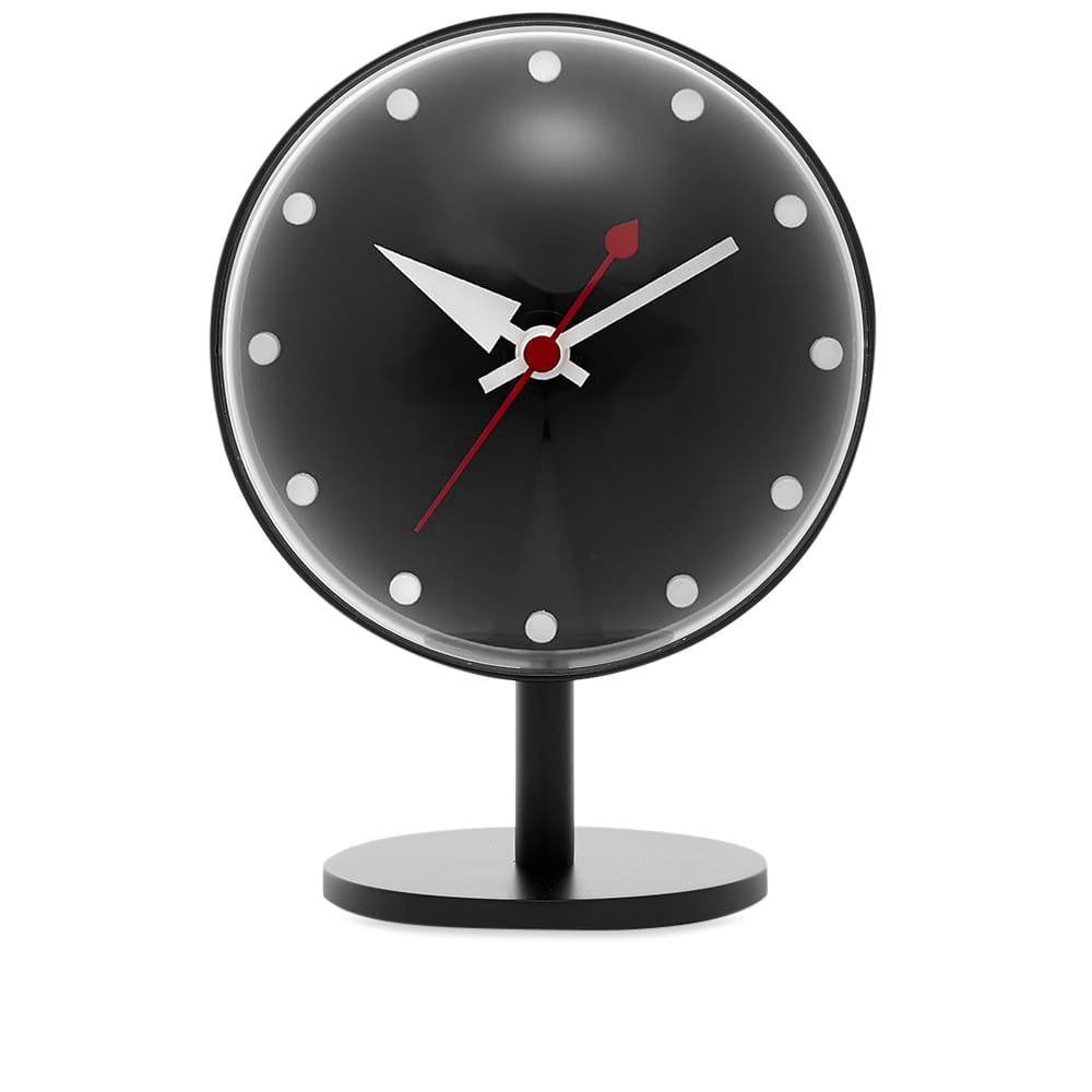 Vitra Night Desk Clock - George Nelson - Black