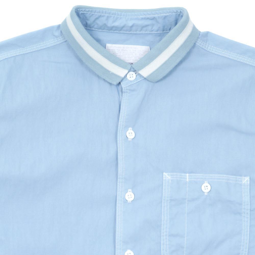 Nanamica Cotton Nylon Chambray Wind Shirt  - Blue