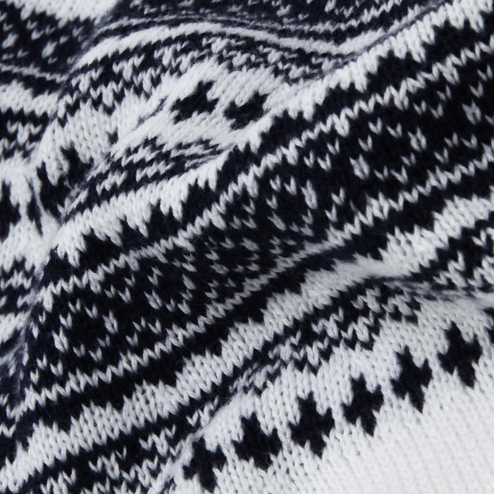 Nanamica COOLMAX Crew Neck Sweater - White & Navy