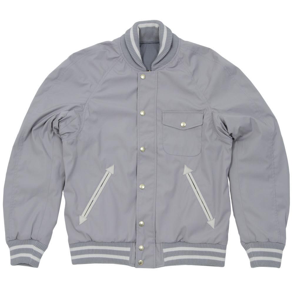 Nanamica 65/35 Reversible Varsity Jacket - Silver Grey