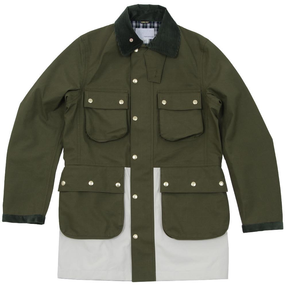 Nanamica Gore-Tex Riding Coat - Khaki & Off White
