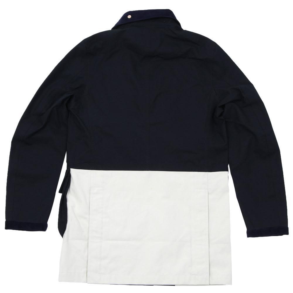 Nanamica Gore-Tex Riding Coat - Navy & Off White