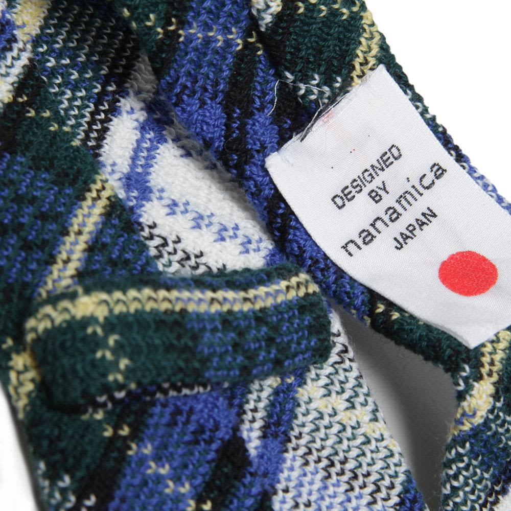 Nanamica British Check Knit Tie - Blue, Green & White