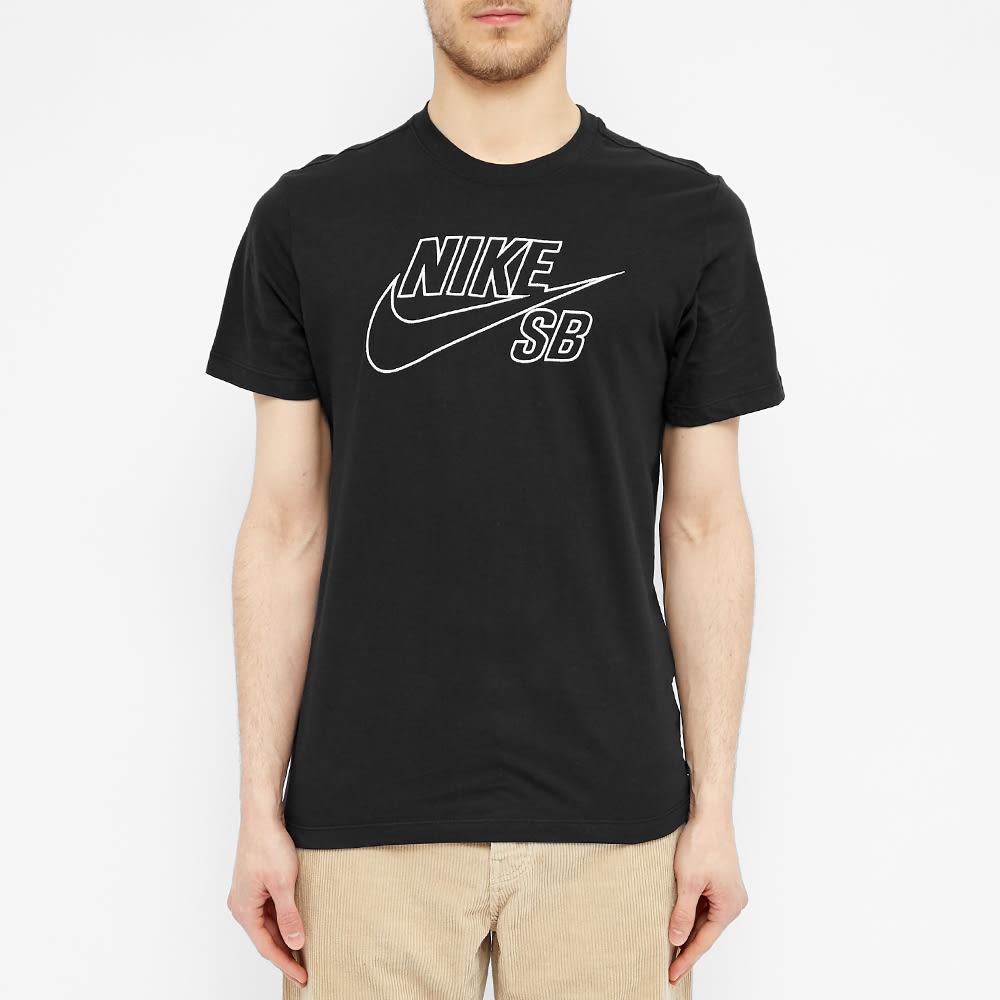 Nike SB Outline Logo Tee - Black & White