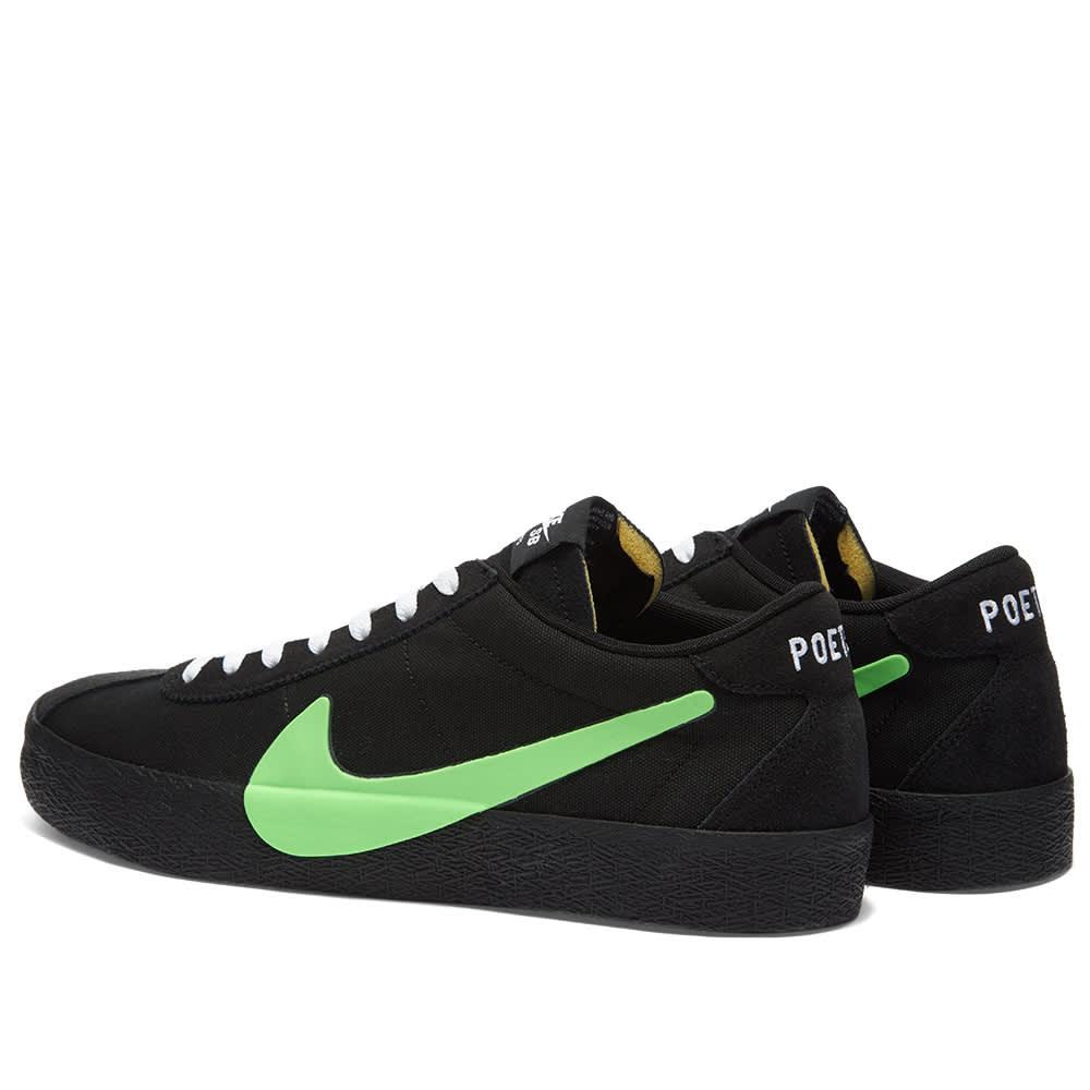 Nike SB x Poets Zoom Bruin - Black, Volt & Vintage Green