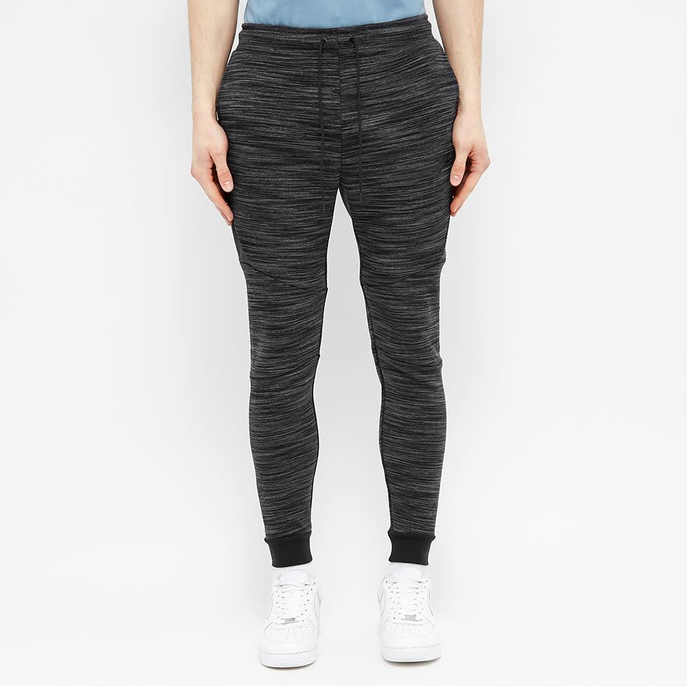 Nike Tech Fleece Heather Jogger - Black & Dark Grey