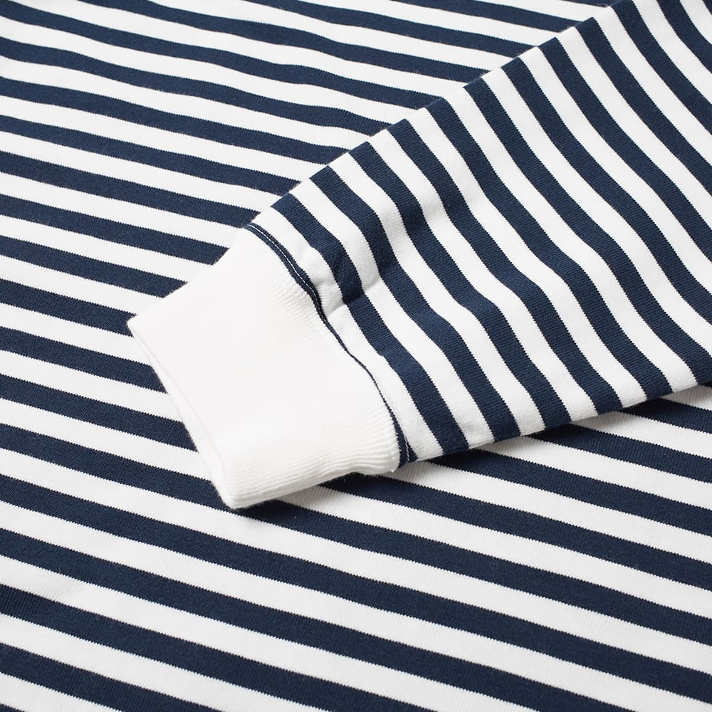 Nanamica Long Sleeve COOLMAX Stripe Tee - Navy & White