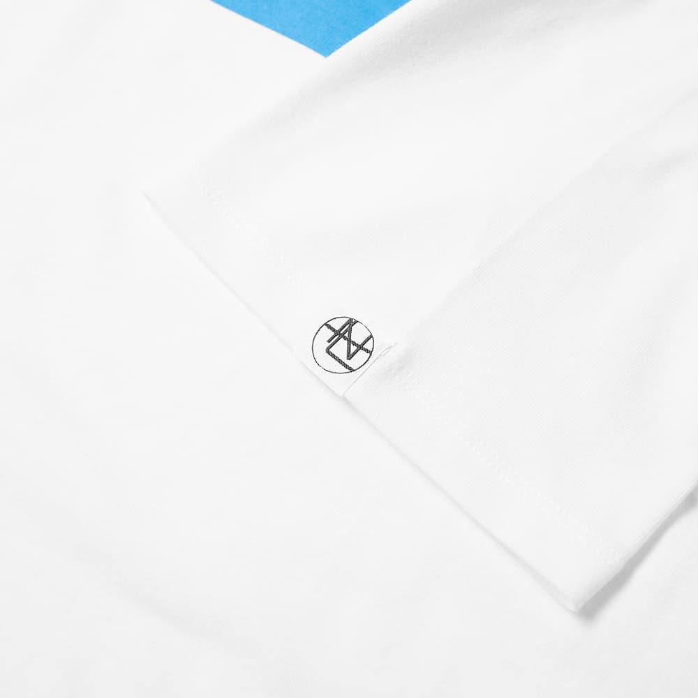 Nanamica COOLMAX Graphic Tee - White & Blue
