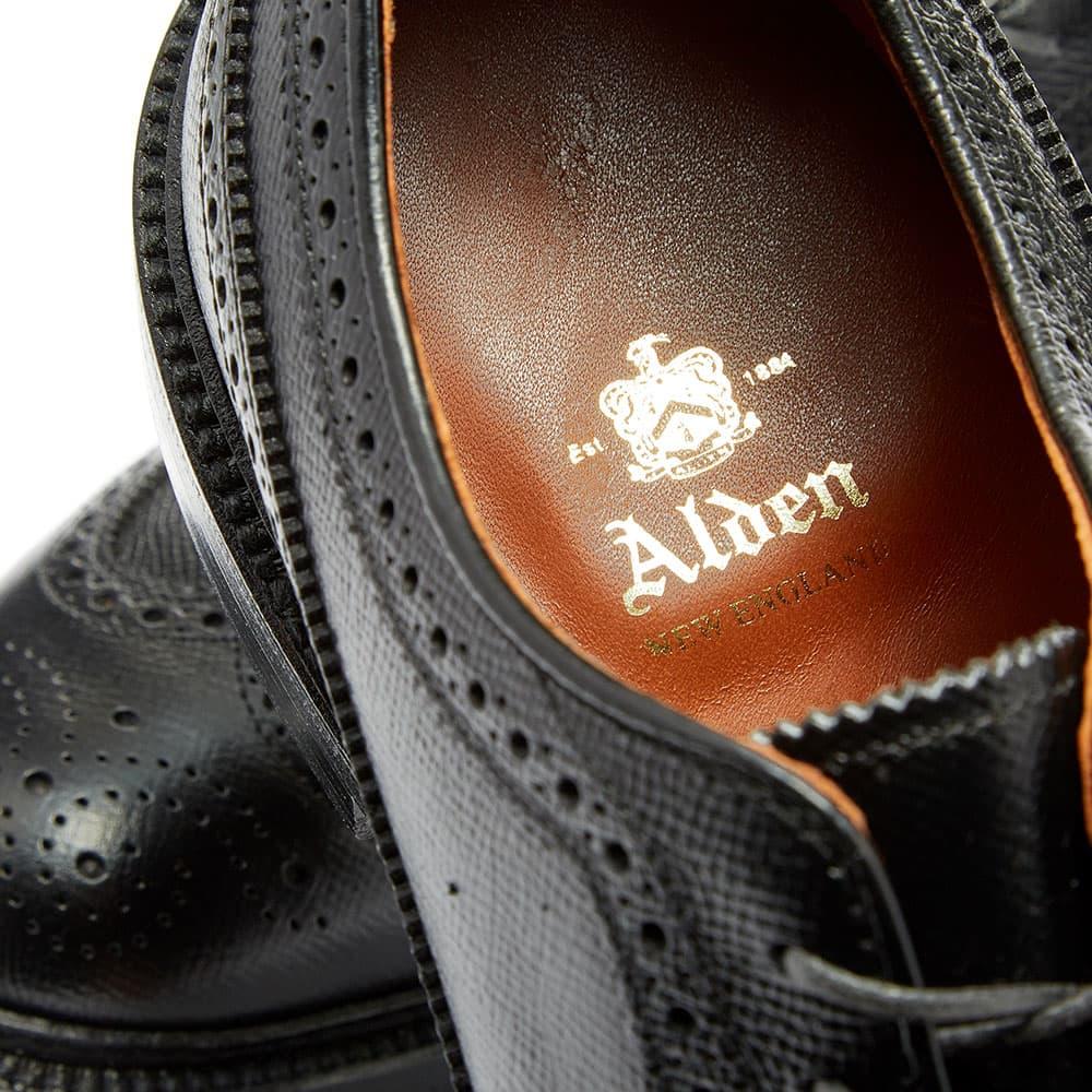 Alden Long Wing Blucher - Black Alpine Grain