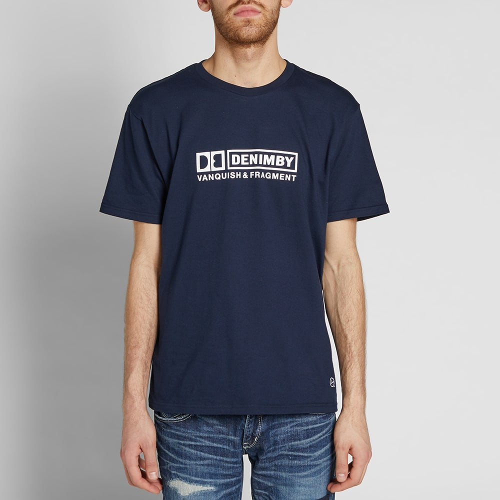Denim by Vanquish & Fragment Box Logo Tee - Navy