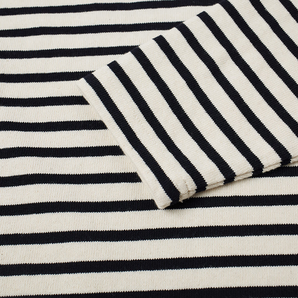 Norse Projects Long Sleeve Godtfred Classic Compact Tee - Ecru Stripe