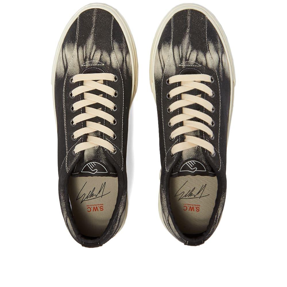 Stepney Workers Club Dellow Tie-Dye Suede Sneaker - Black