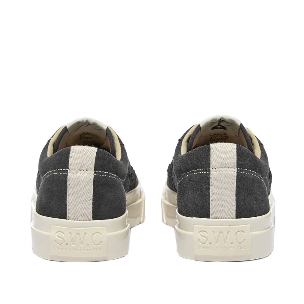 Stepney Workers Club Dellow Woven Suede Sneaker - Smoke