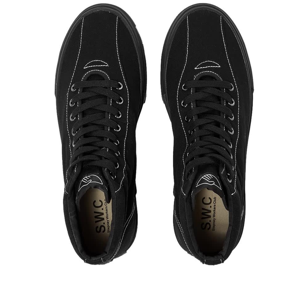 Stepney Workers Club   Varden Canvas High Sneaker - Matt Black