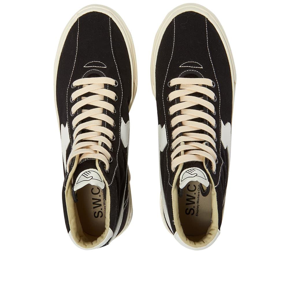 Stepney Workers Club Varden S-Strike Canvas Hi Top Sneaker - Black & White