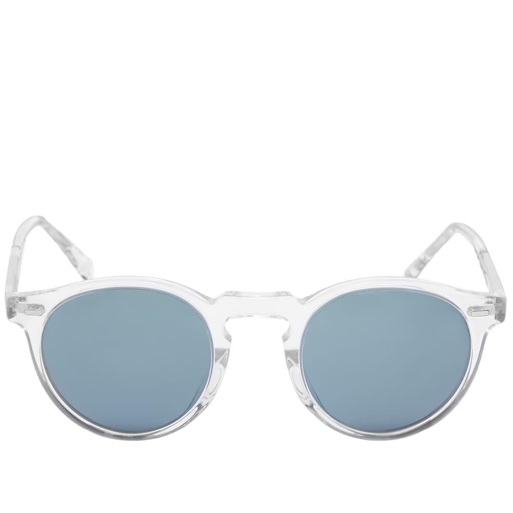 Oliver Peoples Gregory Peck Sunglasses - Crystal & Indigo