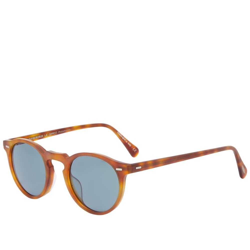 Oliver Peoples Gregory Peck Sunglasses - Semi-Matte LBR & Indigo