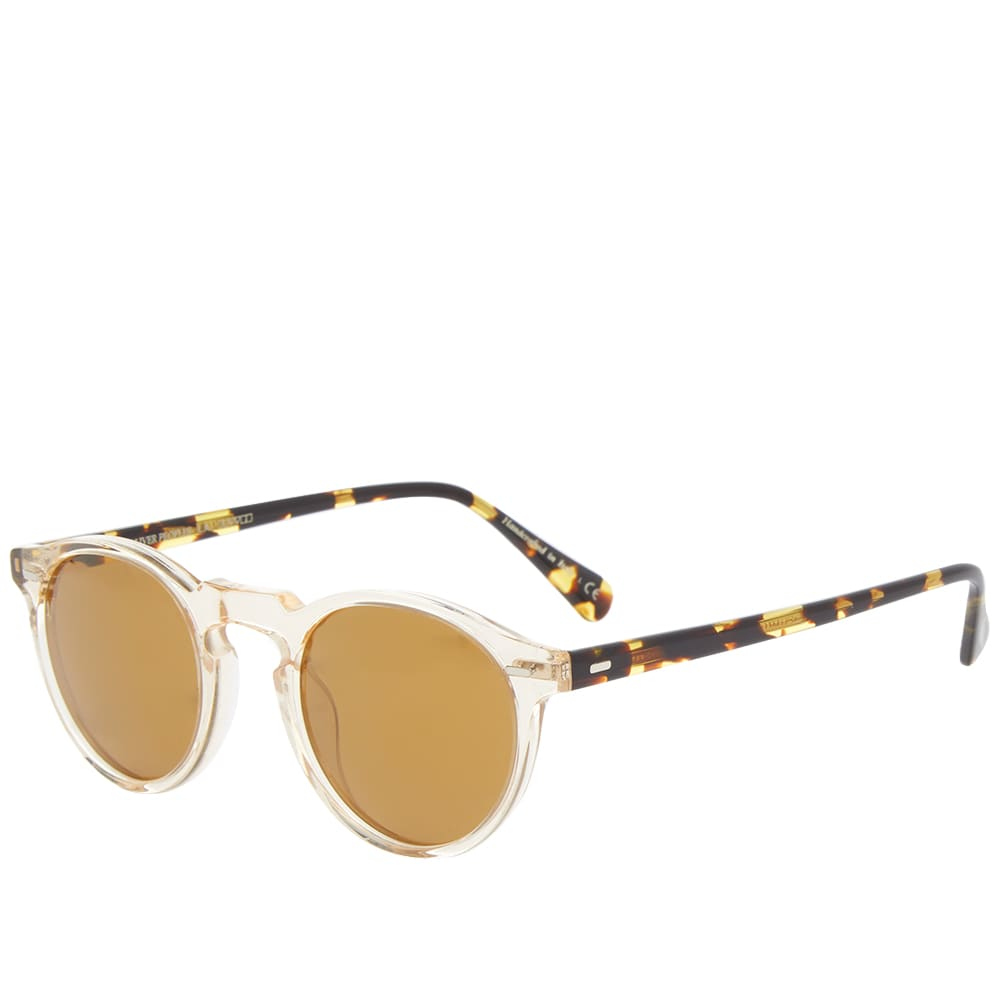 Oliver Peoples Gregory Peck Sunglasses - Buff, DTB & Gold Mirror