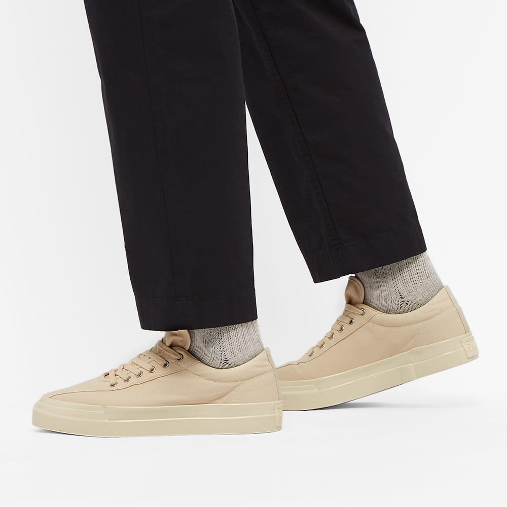 Stepney Workers Club Dellow Canvas Sneaker - Raw Ecru