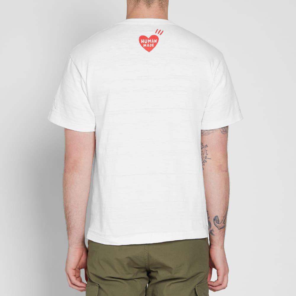 Human Made Wide Logo Tee - White