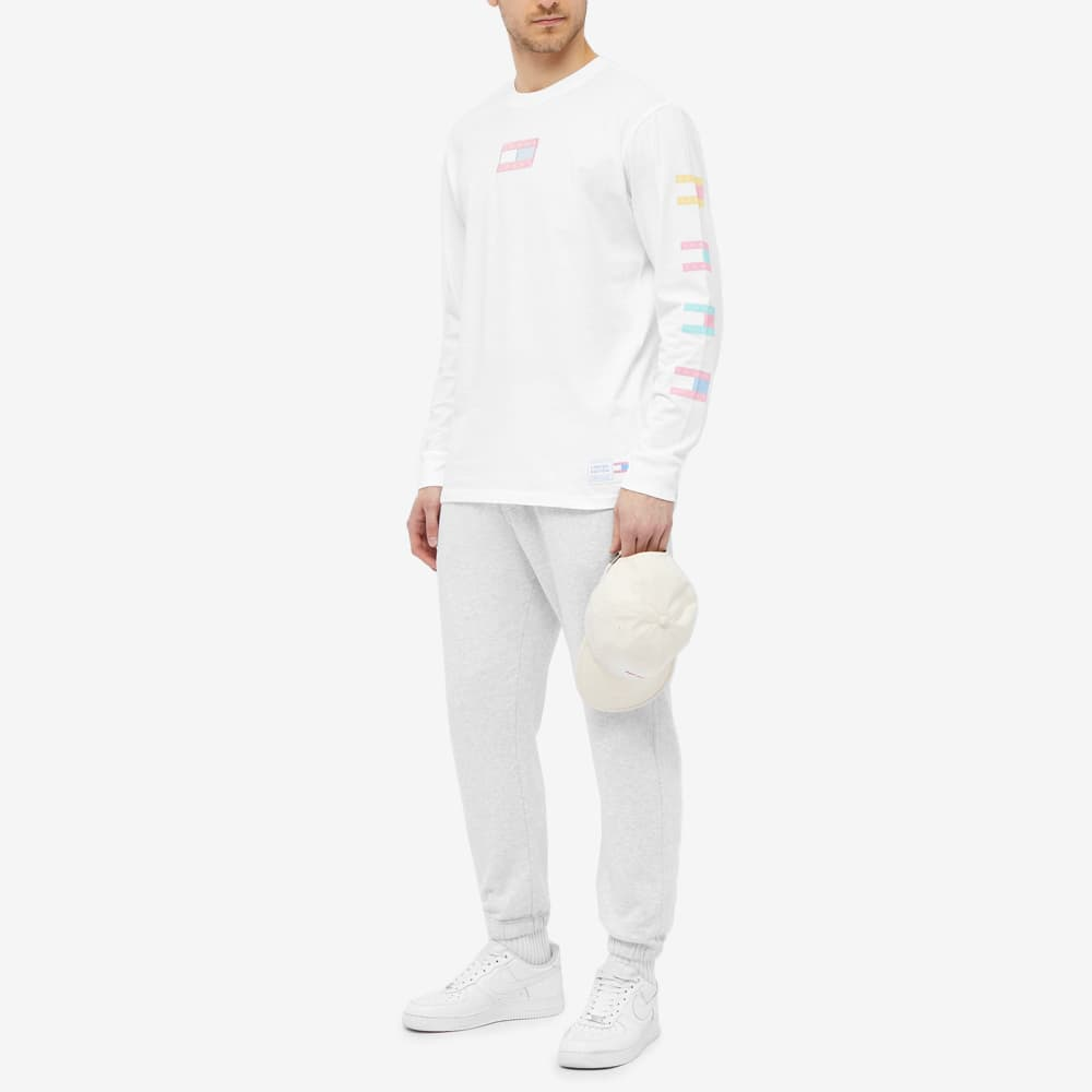 Tommy Jeans Long Sleeve TJM Pastel Flag Tee - White
