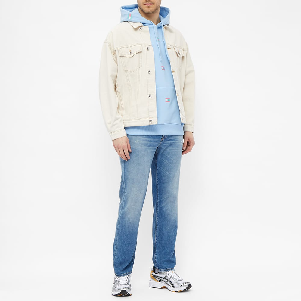 Tommy Jeans TJM Pastel Flag Aop Hoody - Light Powdery Blue
