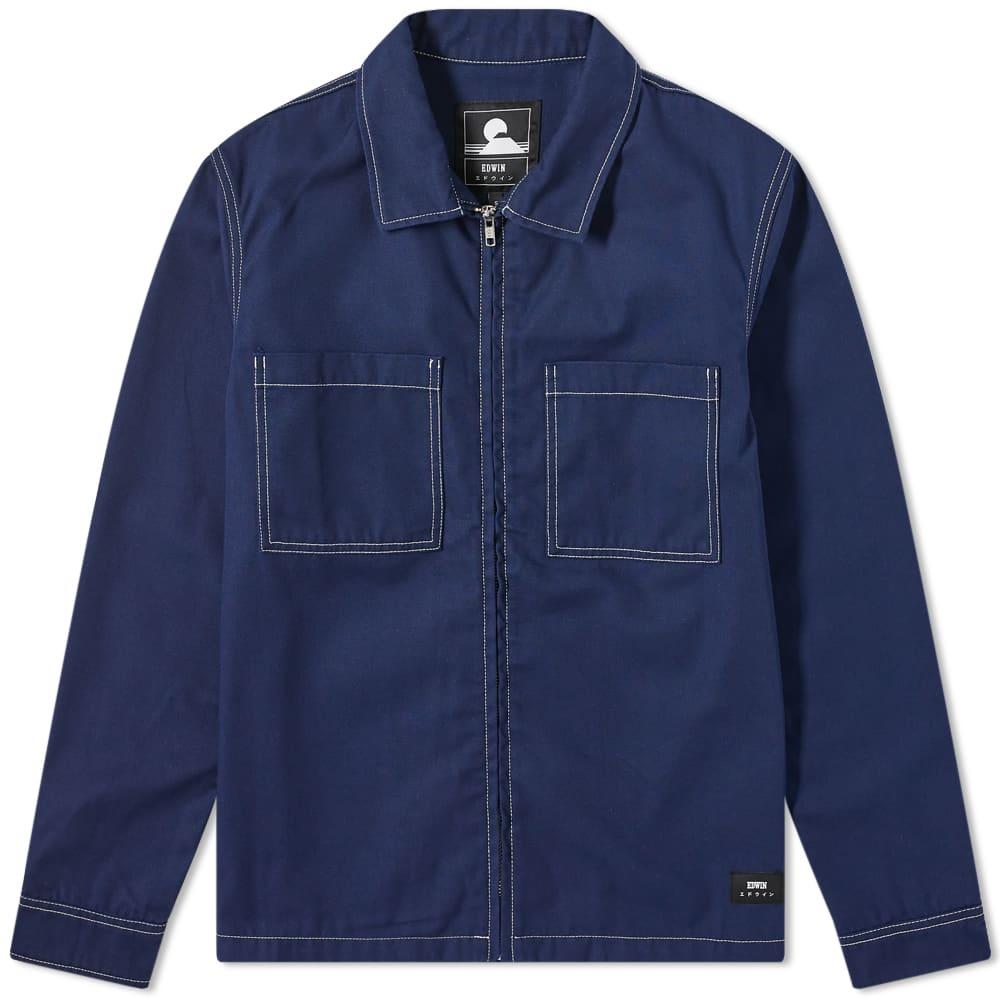 Edwin Zip Work Shirt - Maritime Blue