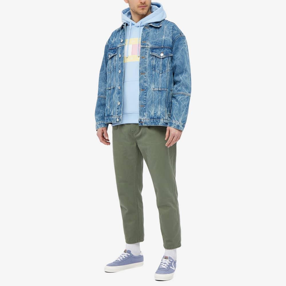 Tommy Jeans TJM Pastel Flag Hoody - Light Powdery Blue