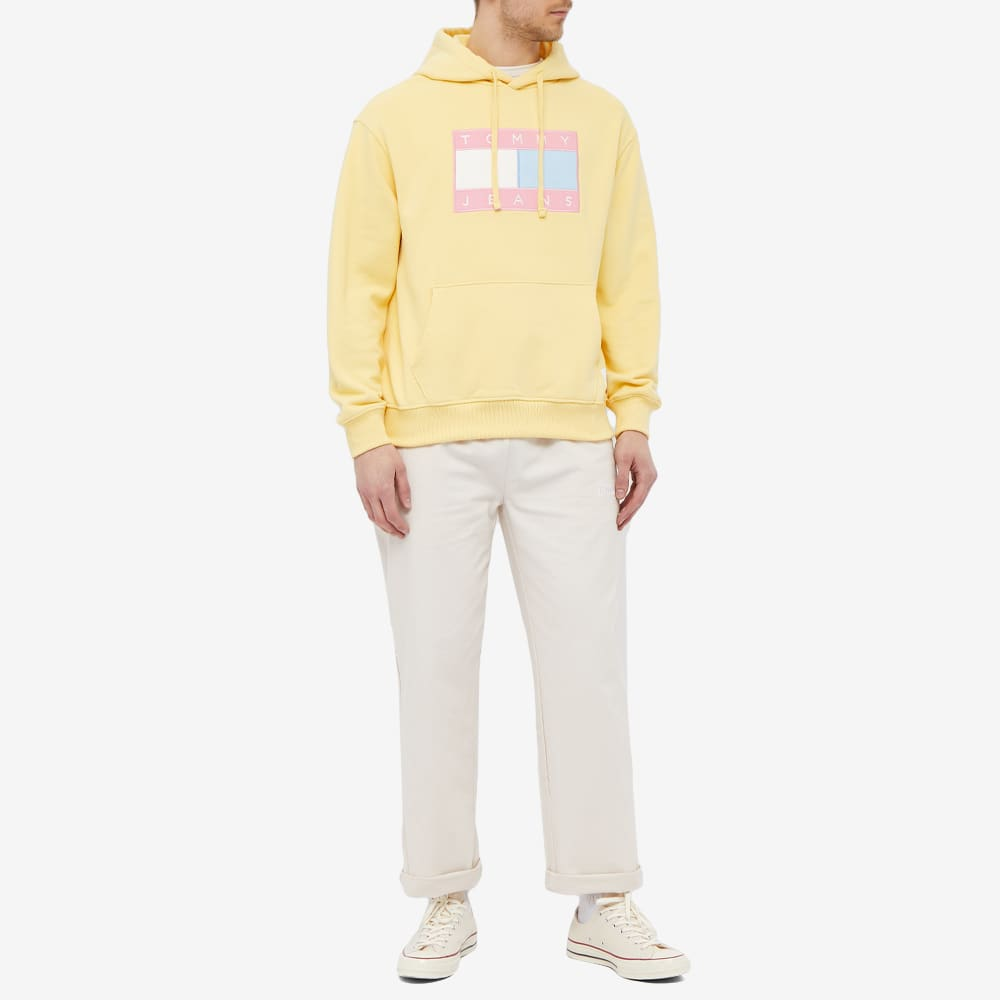 Tommy Jeans TJM Pastel Flag Hoody - Delicate Yellow