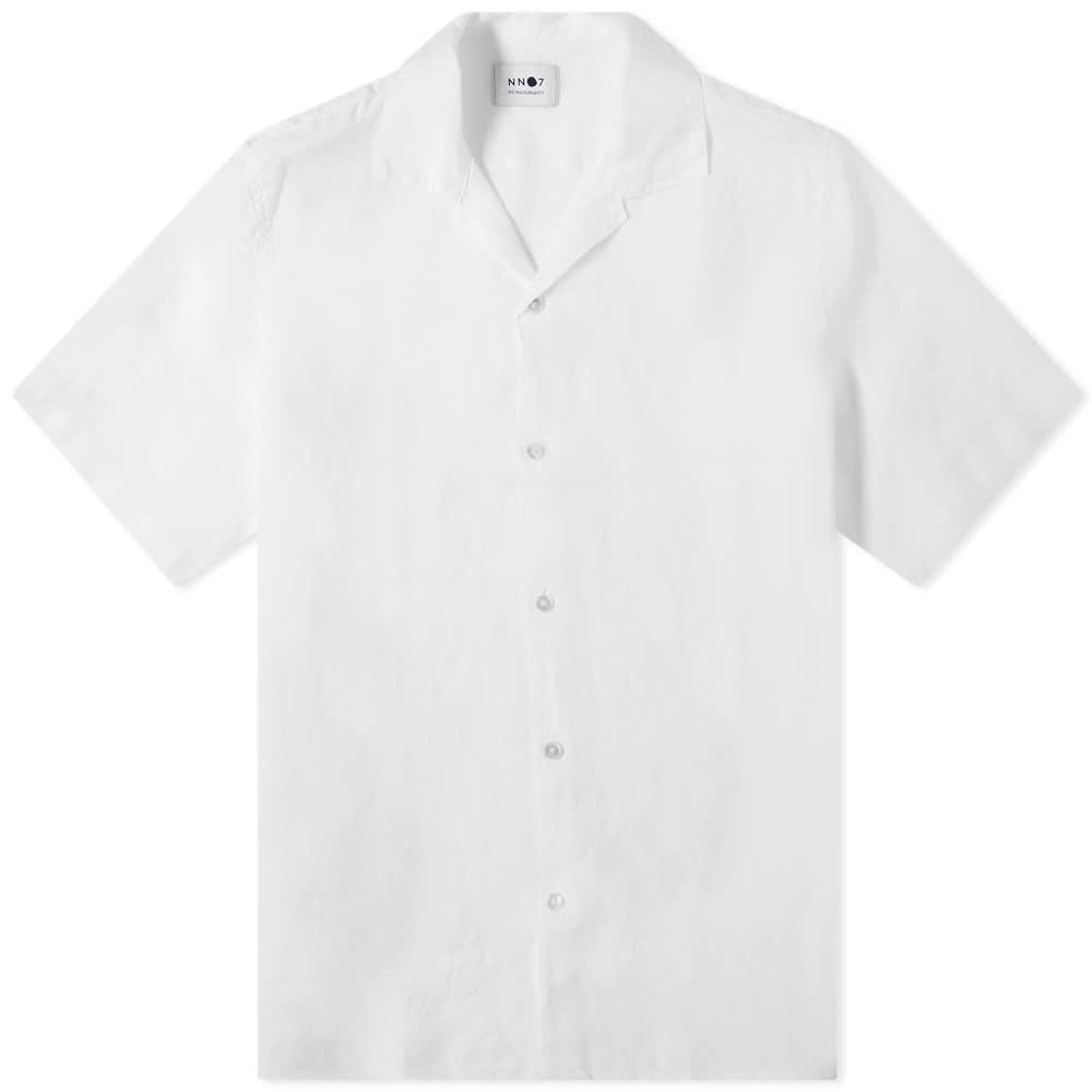 NN07 Miyagi Linen Vacation Shirt - White