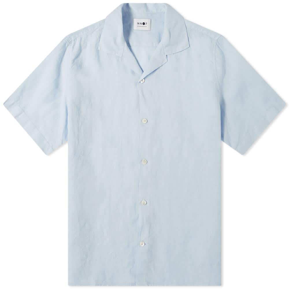 NN07 Miyagi Linen Vacation Shirt - Light Blue