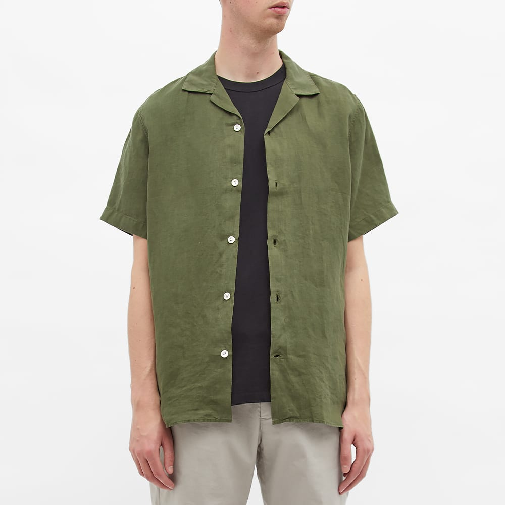 NN07 Miyagi Linen Vacation Shirt - Army