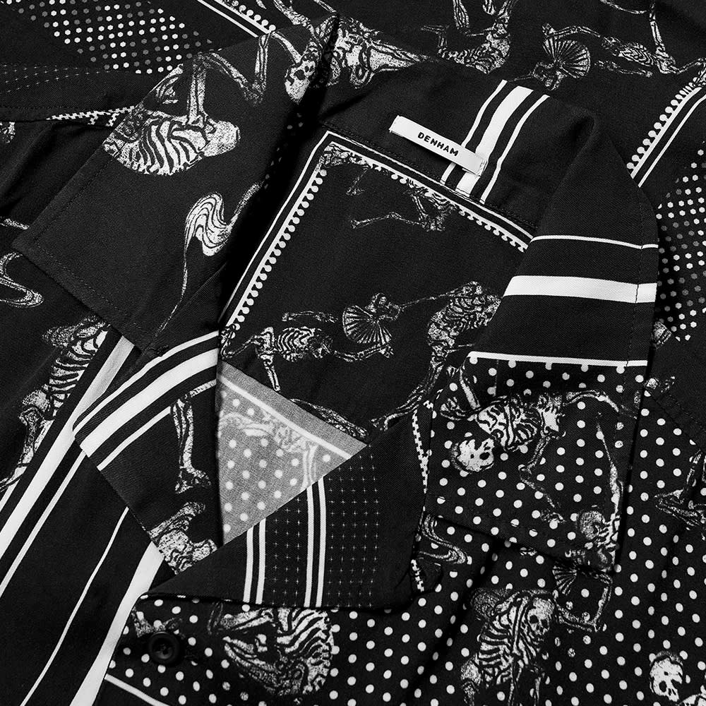 Denham Bandana Print Vacation Shirt - Black