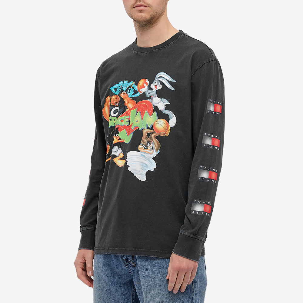 Tommy Jeans Long Sleeve Space Jam Tee - Blackout