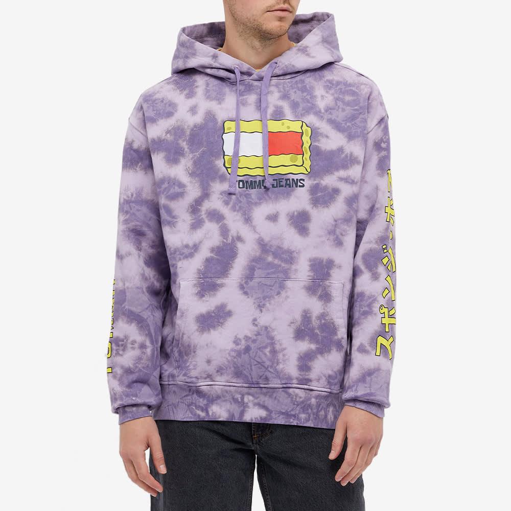 Tommy Jeans Spongebob Tie-Dye Hoody - Tie Dye & Purple Quartz