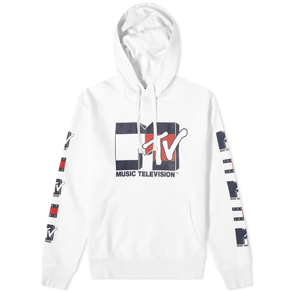 Tommy Jeans MTV Popover Hoody - White