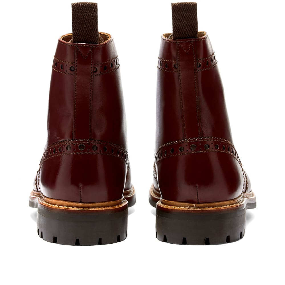 Grenson Fred Commando Sole Brogue Boot - Brown Hand Painted