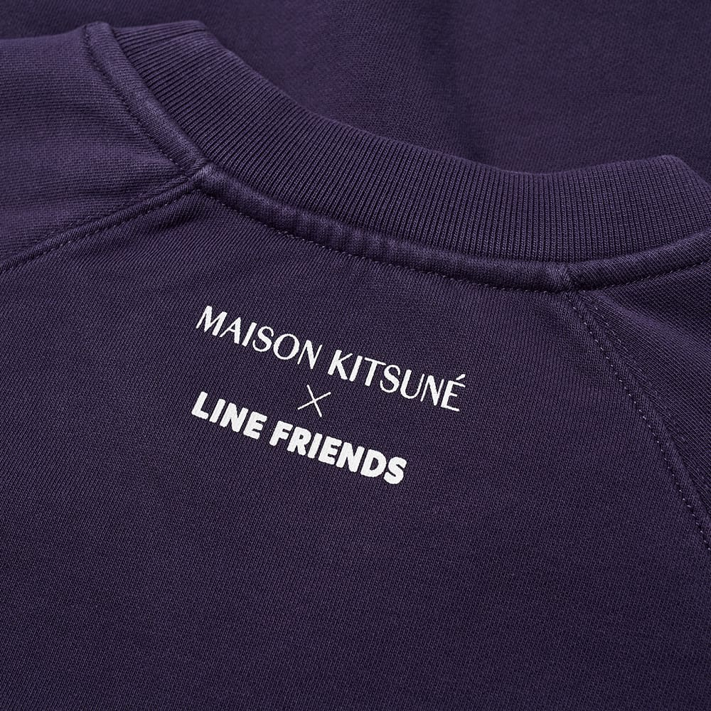 Maison Kitsuné x Line Friends Kitsuné Small Patch Crew Sweat - Navy